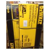Lot of 2 DEWALT 48 in. H x 50 in. W x 18 in. D 3-Shelf Steel / Laminate Expandable Industrial Storage Rack Unit in Yellow in good conditions