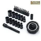 Husky 1/4 in. Drive Gimbal Ratchet and Universal Socket Set (25-Piece) n good condition