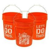 The Home Depot 5 Gal. Homer Bucket QTY 3 not used