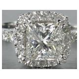 2 CT Princess Cut Diamond Engagement Ring in 18k Gold - Comes With an IGI Report