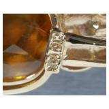 Brilliant Citrine Estate Pendant in 14k Gold