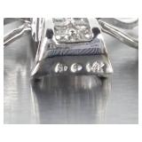 Ladies Diamond Estate Cross in 14k White Gold