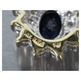 Stunning Sapphire and Diamond Estate Pendant in 14k Gold