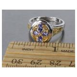 Beautiful Natural Tanzanite Estate Ring