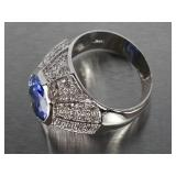 Gorgeous 5 CT Tanzanite Custom Estate Ring