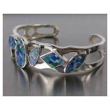 Beautiful Opal Bangle Estate Bracelet