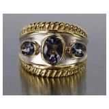 Fantastic Tanzanite Custom Estate Ring
