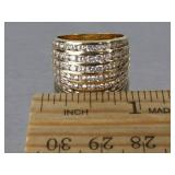Charming Channel Set Estate Ring in 10k Gold