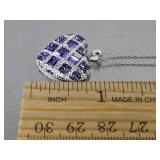 Ladies Tanzanite Estate Pendant with Chain