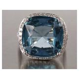 Beautiful London Blue Topaz Estate Ring