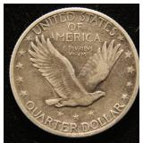 1917 TYPE II STANDING LIBERTY QUARTER XF40