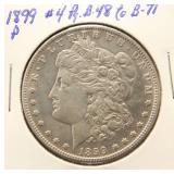 1899-P MORGAN SILVER DOLLAR AU BETTER DATE COIN
