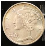 1 TROY OZ. .999 FINE SILVER MERCURY DIME DESIGN