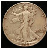 1938-D WALKING LIBERTY HALF DOLLAR BETTER DATE COIN