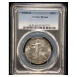 1946-S WALKING LIBERTY HALF DOLLAR MS64 PCGS