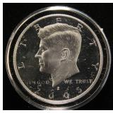 2005-S PROOF KENNEDY SILVER HALF DOLLAR IN AIRTITE