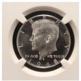 1968-S PROOF KENNEDY SILVER 40% HALF DOLLAR PF66 CAMEO NGC