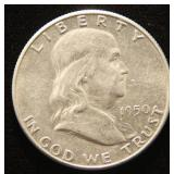 1950 FRANKLIN SILVER HALF DOLLAR
