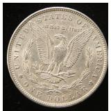 1896 MORGAN SILVER DOLLAR UNC small obv rim bump