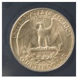 1947-D WASHINGTON SILVER QUARTER MS63 ANACS