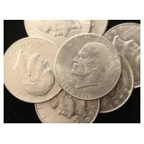 GROUP OF 7 CLAD EISENHOWER DOLLARS