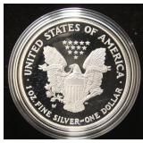 2007 PROOF AMERICAN SILVER EAGLE IN ORIGINAL MINT PACKAGING