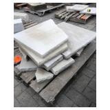 Pallet of misc Limestone treads/cap...