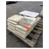 23 pcs of misc travertine textured ...