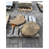 2 decorative flat rocks...