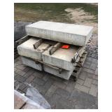 "1- 7"" thick 4' wide 20"" deep con..."