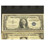 (1) Silver Certificate & (2) U.S. Currency Notes