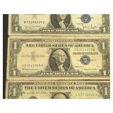 (2) Silver Certificates & (1) U.S. Currency Note
