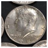 (8) Kennedy Half Dollars