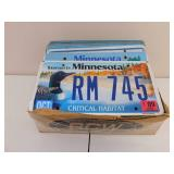 Box of Old License Plates