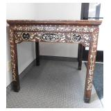 "Antique Chinese Table - 37"" x 37"" x 35.5""(h)"
