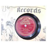 Antique Victor Records with Case
