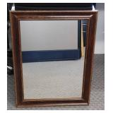 "Antique Framed Mirror - 28.5"" x 22.5"""
