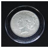 1922 D Peace Silver Dollar in Air-Tite Holder