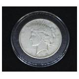 1925 Peace Silver Dollar in Air-Tite Holder