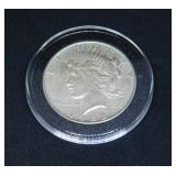 1922 Peace Silver Dollar in Air-Tite Holder