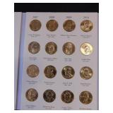 Littleton Archival Quality Presidential Dollar Album 2007-2016 with 20 Presidential Dollar Coins (2007-2011)