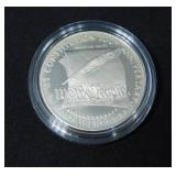"1987 S ""WE THE PEOPLE"" Mint State Commemorative Silver Dollar In Capsule"