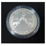 1988 S Olympiad Mint State Commemorative Silver Dollar In Capsule