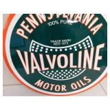 Metal Pennsylvania Valvoline Sign 23""