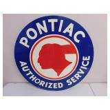 Metal Pontiac Authorized Service Sign 26""