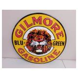 Metal Gilmore Gasoline Sign 23""