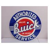 Metal Authorized Buick Service Sign 26""