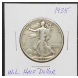 1935 W.L. Walking Liberty Half Dollar