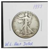 1937 W.L. Walking Liberty Half Dollar