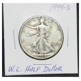 1944 - S W.L. Walking Liberty Half Dollar